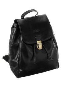 ROVICKY - Plecak damski czarny Rovicky 434-CCVT BLACK. Kolor: czarny. Materiał: skóra. Styl: vintage