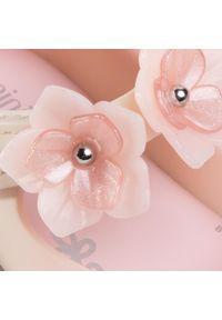 Różowe półbuty melissa z cholewką, na rzepy