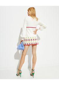 ALICE MCCALL - Biała sukienka Lemon. Kolor: biały. Materiał: dzianina, prążkowany. Długość rękawa: długi rękaw. Styl: vintage. Długość: mini
