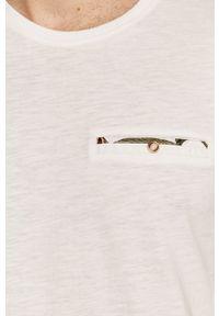 Biały t-shirt medicine z okrągłym kołnierzem