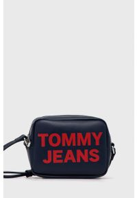 Tommy Jeans - Torebka. Kolor: niebieski. Rodzaj torebki: na ramię