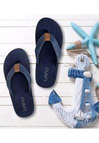 Niebieskie japonki LANO eleganckie, w kolorowe wzory