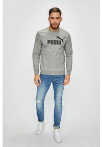 Szara bluza nierozpinana Puma casualowa, na co dzień, z nadrukiem