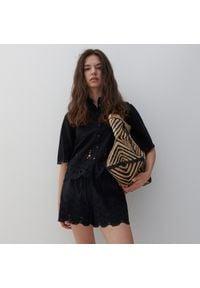 Reserved - Bawełniane szorty - Czarny. Kolor: czarny. Materiał: bawełna