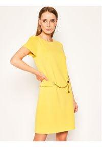 Luisa Spagnoli Sukienka codzienna Moderata Żółty Regular Fit. Okazja: na co dzień. Kolor: żółty. Typ sukienki: proste. Styl: casual
