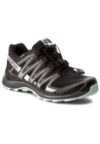 Czarne buty do biegania salomon Gore-Tex, na sznurówki
