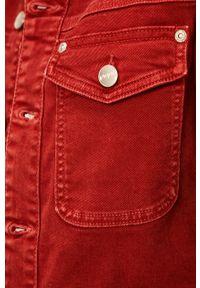 Czerwona kurtka Pepe Jeans bez kaptura
