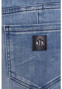 Armani Exchange - Jeansy J69. Kolor: niebieski