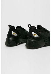 Czarne sneakersy Nike na sznurówki, z okrągłym noskiem, Nike Zoom, z cholewką