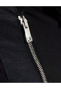 Les Hommes - LES HOMMES - Czarna koszula z suwakiem. Kolor: czarny. Materiał: materiał. Długość rękawa: długi rękaw. Długość: długie. Styl: elegancki