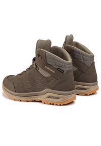 Zielone buty trekkingowe Lowa trekkingowe, z cholewką, Gore-Tex #8