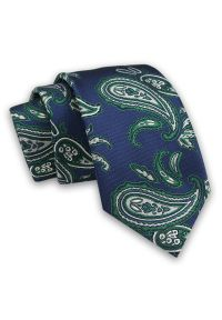 Zielony krawat Alties elegancki, paisley