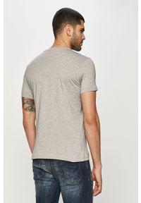 Szary t-shirt Diesel z nadrukiem