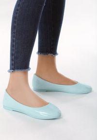 Born2be - Niebieskie Balerinki Single-Mindedness. Okazja: na co dzień. Nosek buta: okrągły. Zapięcie: bez zapięcia. Kolor: niebieski. Wzór: gładki. Materiał: lakier, materiał. Obcas: na obcasie. Styl: elegancki, casual. Wysokość obcasa: niski