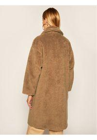 Brązowy płaszcz zimowy Weekend Max Mara