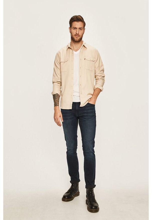 Beżowa koszula Levi's® casualowa, na co dzień, w kolorowe wzory