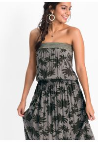 Zielona sukienka bonprix maxi, z nadrukiem