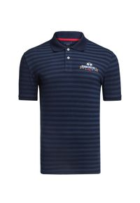 Niebieska koszulka polo La Martina polo, na lato, z haftami
