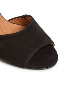 Czarne sandały Oleksy na co dzień, casualowe