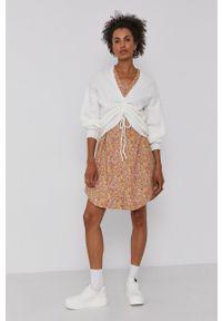 Y.A.S - Sukienka. Kolor: beżowy. Materiał: tkanina. Długość rękawa: krótki rękaw. Typ sukienki: rozkloszowane #5