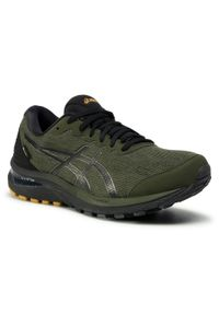 Zielone buty do biegania Asics z cholewką, Gore-Tex