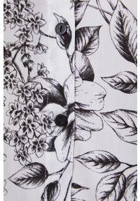 medicine - Medicine - Koszula Graphic Bouquet. Okazja: na co dzień. Kolor: biały. Materiał: tkanina. Długość rękawa: długi rękaw. Długość: długie. Styl: casual