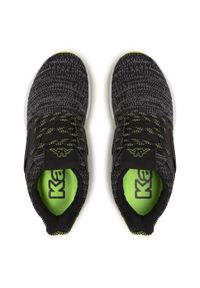 Kappa - Sneakersy KAPPA - Feeny 242683 Black/Lime 1133. Okazja: na co dzień. Kolor: szary. Materiał: materiał. Szerokość cholewki: normalna. Sezon: lato. Styl: klasyczny, casual