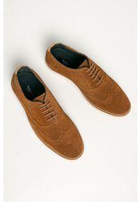 Pepe Jeans - Półbuty skórzane Dave. Nosek buta: okrągły. Zapięcie: sznurówki. Kolor: brązowy. Materiał: skóra #4