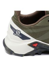 Zielone buty do biegania salomon z cholewką