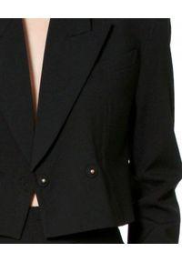 AGGI - Dwurzędowy żakiet z jedwabiem Giorgia. Okazja: do pracy. Kolor: czarny. Materiał: jedwab. Styl: elegancki