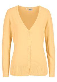 Żółty sweter bonprix casualowy, na co dzień