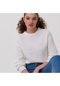 Biały sweter Cropp