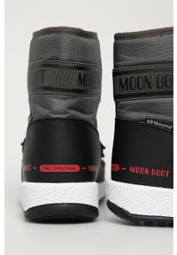 Moon Boot - Śniegowce. Nosek buta: okrągły. Zapięcie: sznurówki. Kolor: szary