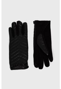 Aldo - Rękawiczki Qahar. Kolor: czarny