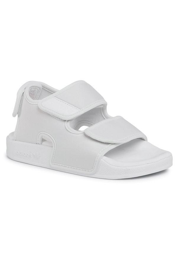 Białe sandały Adidas casualowe, na co dzień