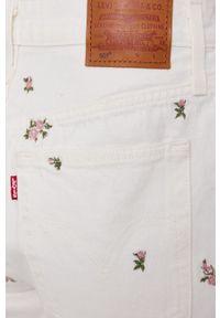 Levi's® - Levi's - Szorty jeansowe. Okazja: na co dzień, na spotkanie biznesowe. Kolor: biały. Materiał: jeans. Styl: casual, biznesowy