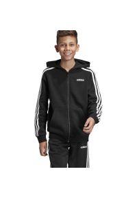 Bluza Adidas młodzieżowa, z kapturem, w paski