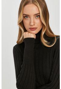 Czarny sweter Answear Lab wakacyjny, długi, z golfem, z długim rękawem