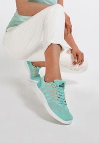 Renee - Miętowe Buty Sportowe Everybody Run!. Kolor: miętowy. Sport: bieganie