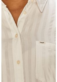 Lee - Koszula. Okazja: na co dzień. Kolor: biały. Materiał: tkanina. Długość rękawa: długi rękaw. Długość: długie. Styl: casual
