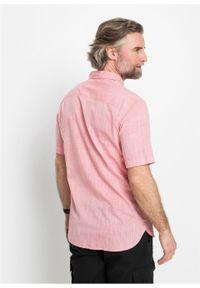 Czerwona koszula bonprix krótka, z krótkim rękawem, melanż