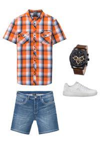 Pomarańczowa koszula bonprix z krótkim rękawem, krótka