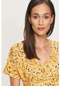 Żółta sukienka ANSWEAR na co dzień, mini