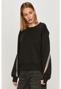 Czarna bluza AllSaints na co dzień, długa, casualowa, z długim rękawem