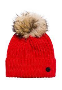 Czerwona czapka Bogner z aplikacjami, elegancka