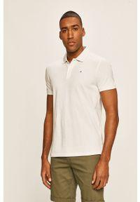 Biała koszulka polo Tom Tailor casualowa, polo, gładkie, na co dzień