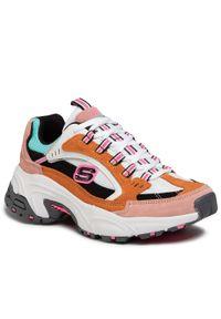 Pomarańczowe buty sportowe skechers z cholewką, na co dzień