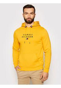 TOMMY HILFIGER - Tommy Hilfiger Bluza Stacked Flag MW0MW17397 Żółty Regular Fit. Kolor: żółty