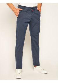 Pierre Cardin Spodnie materiałowe 33747/000/4785 Granatowy Modern Fit. Kolor: niebieski. Materiał: materiał