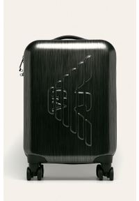Szara walizka Emporio Armani